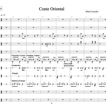 Conte Oriental full score marie extrait