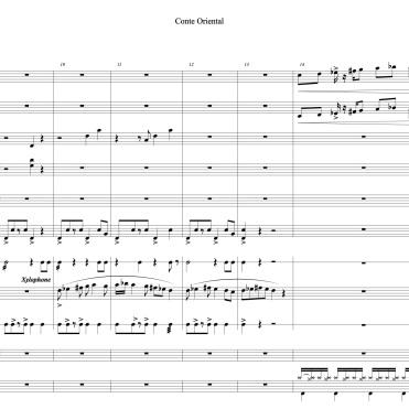Conte Oriental full score marie extrait 2