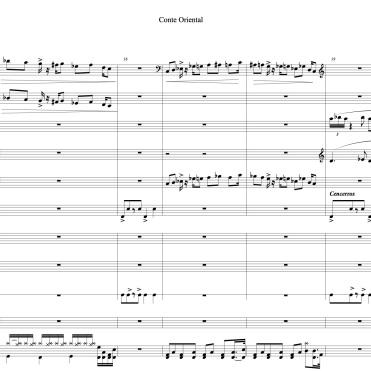 Conte Oriental full score marie extrait 3