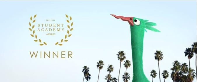 The Green Bird Win an Oscar !